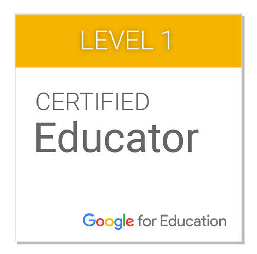 badge for certified google educator level 1